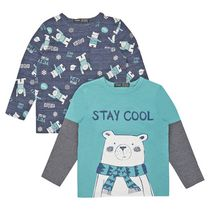 George British Design Toddler Boys' 2Pk Long Sleeve Polar Bear Stay Cool 3T