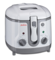 Sunbeam 1.5L Adjustable Temperature Deep Fryer (White) CKSBDF154W-033