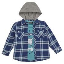 George British Design Toddler Boys' Check Shirt & Chill Out Tee 2T