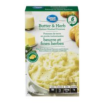 Great Value Butter & Herb Instant Mashed Potatoes