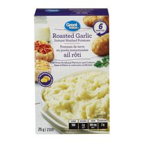 Great Value Roasted Garlic Instant Mashed Potatoes