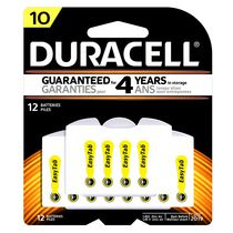 Duracell 10 Hearing Aid 1.45V Zinc Air Batteries