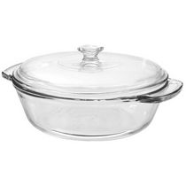 Anchor Hocking 2 QT Glass Casserole with Lid