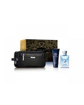 Versace Pour Homme 90 ml Eau De Toilette Spray + 100 ml B/L + Black Shaving Bag -Set For Men