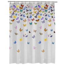 Flutterby PEVA shower curtain