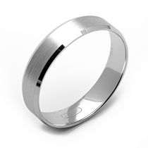 Jonc d'alliance en or blanc de 10 ct de Rex Rings pour hommes 10.5