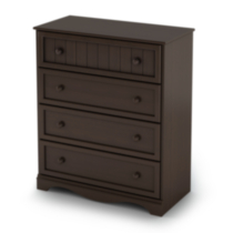 South Shore Savannah Collection 4-Drawer Chest Espresso