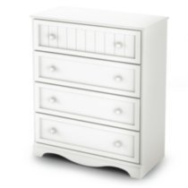 South Shore Savannah Collection 4-Drawer Chest White