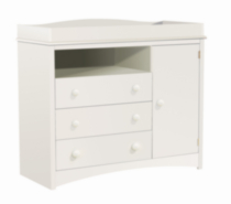 South Shore Changing Table, Pure White Finish