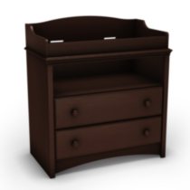 South Shore Angel Collection Changing Table Dark brown wood