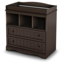South Shore Savannah Collection Changing Table Brown/tan