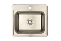 Eviers Asil Sinks North American 25-Inch Stainless Steel 18 Gauge Single Basin Kitchen Sink