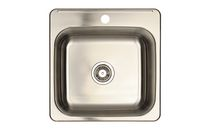 Eviers Asil Sinks North American 20-Inch Stainless Steel 20 Gauge Single Basin Kitchen Sink
