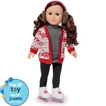 My Life As 18-inch Caucasian with Brunette Hair Ice Skater Doll