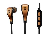 Mental Beats Flex Wireless Bluetooth Gold Earbuds with Mic