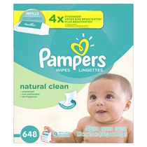 Pampers Baby Wipes Natural Clean 9x Refill Pack