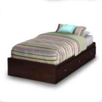 South Shore® Logan Collection Twin Size Havana Mates Bed