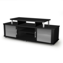South Shore City Life collection TV Stand Black