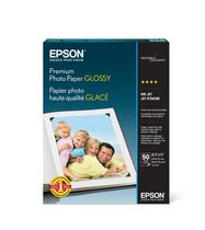 Epson 8.5 x 11 inch 50 Sheet Premium Photo Paper Glossy