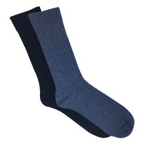 THERAPY PLUS Ladies Non-Elastic Crew Sock 2pk French Blue