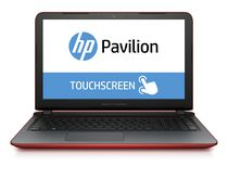 "HP Pavilion 15.6"" Notebook with AMD Quad-Core A6-6310 APU 2.4GHz Processor, Red"