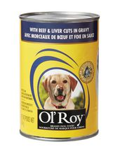 Ol'Roy Dog Food With Beef & Liver Cuts In Gravy
