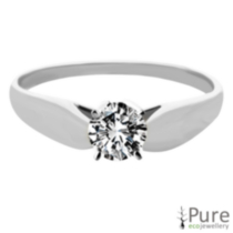 0.15 ct Round Brilliant Diamond Solitaire Ring White Gold 7