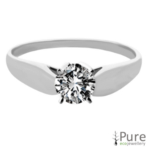 0.30 ct Round Brilliant Diamond Solitaire Ring White Gold 5.5