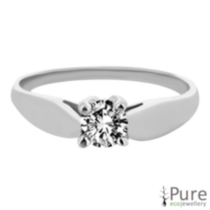 0,15 ct - Bague à diamant solitaireargent sterling 8.5