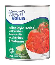 Great Value Italian Style Herbs Diced Tomatoes