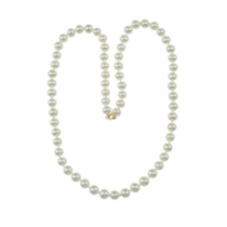 10kt Gold and White Pearl Necklace