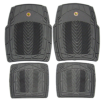 Pants Saver Tribal Car Mat 4-Piece Set, Grey