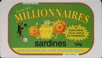 Millionnaires Skinless/Boneless Sardines in Sunflower Oil 124g