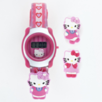 Girls' Hello Kitty LCD watch
