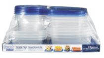 Great Value Plastic Containers - Variety Pack