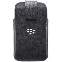 BlackBerry Leather Swivel Holster Case for Blackberry Classic in Black