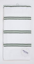 Home Trends 2-pack kitchen towels with Microban Green White