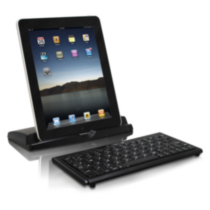 Macally BTKeyMINI Portable Bluetooth Keyboard and Stand for iPad
