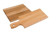 Labell Canadian Maple Wood Cutting Board - Straight Paddle & Utility Board Combo