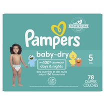 Pampers Couches Baby Dry format Super Taille 5