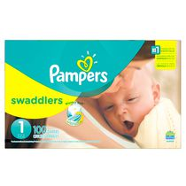 Pampers Couches Swaddlers format Supers Taille 1