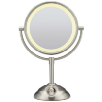 Conair Satin Nickel Double Sided Lighted Mirror