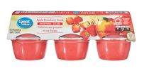 Great Value Apple Strawberry Snack Sweetened Cups
