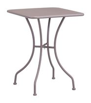Zuo Modern Outdoor 1-Piece Electro & Powder Coated Metal Taupe Oz Dining Square Table