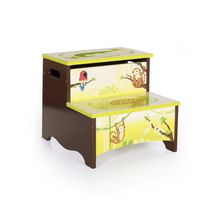 Guidecraft Jungle Party Storage Step-Up Stool