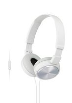 SONY ZX Series Stereo Over-Ear Headphones with Microphone, White - MDRZX310APW