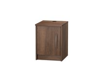 Homestar Finch 1-Door Nightstand Walnut