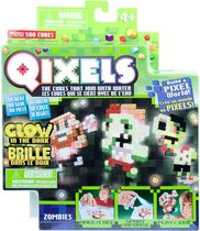 Qixels S2 Refill Pack - Ocean, Dino, Space and Zombie Glow in the Dark