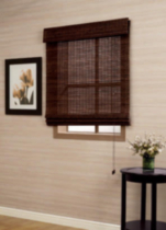 Bamboo Roman Shade Dark Chocolate 39x64