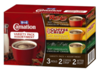 Chocolat chaud Carnation de Nestle - assortiment
